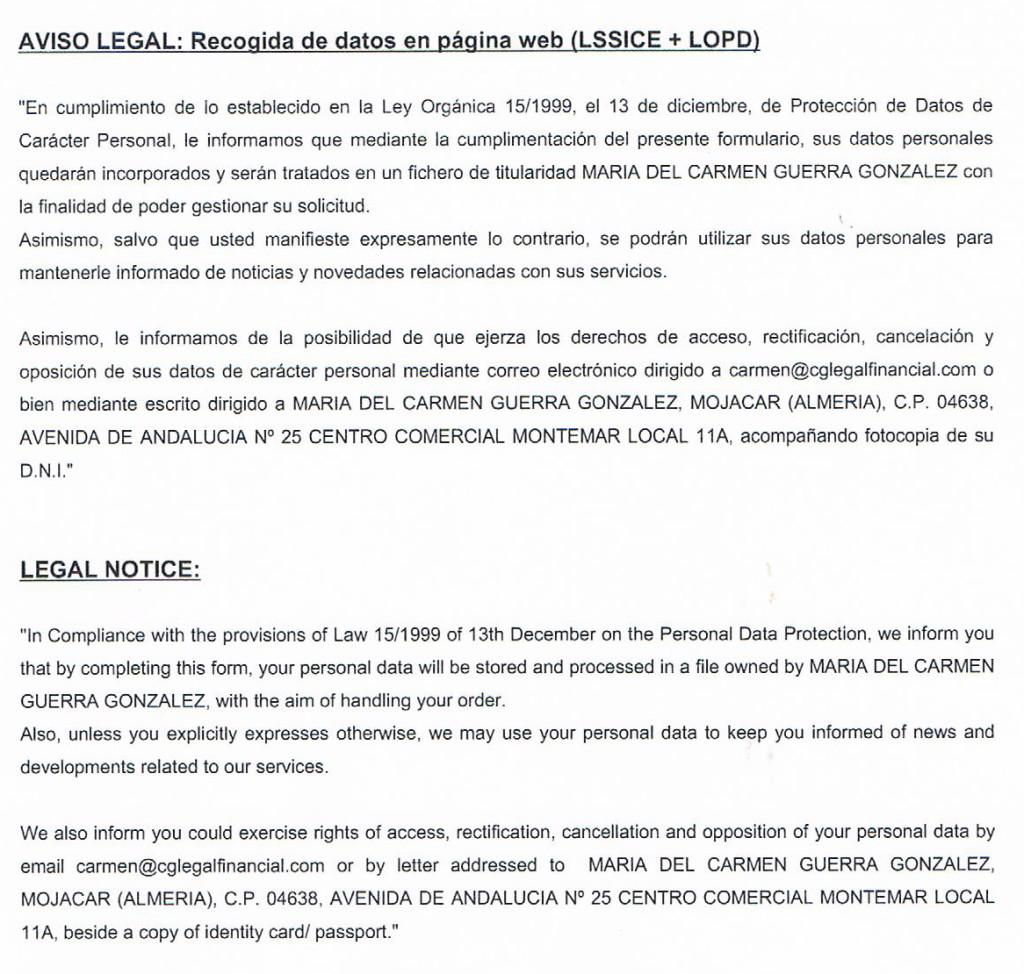 legal obligation